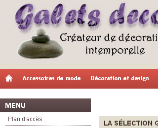 Galets d�co & design